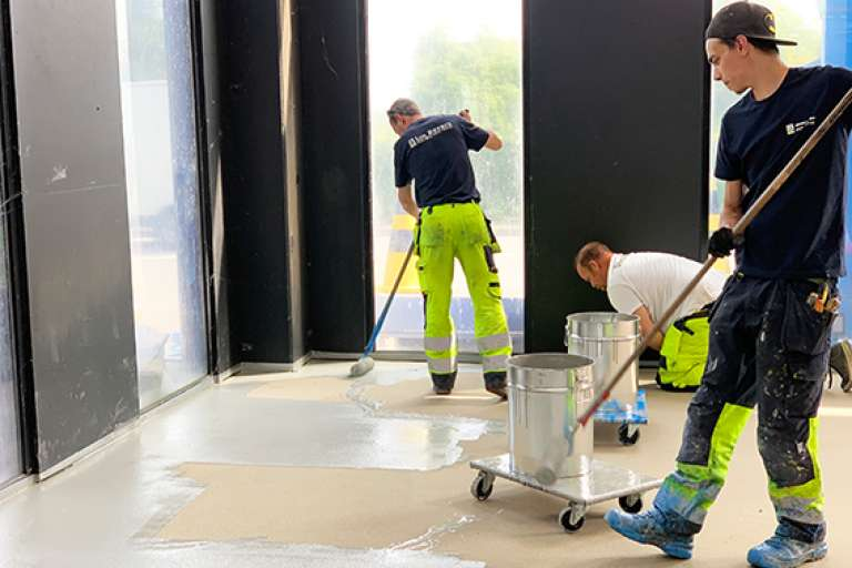 Anti-slip coating bij de Wasstraat te Herent