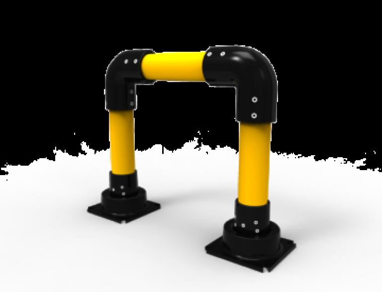 Beschermbeugel slowstop type 2 ter bescherming en afscheiding van machines, installaties, brandkranen, rekken en voetgangers
