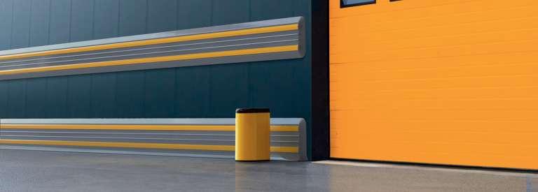 Anti-schok kunststof muurbescherming ter bescherming van industriële ruimtes