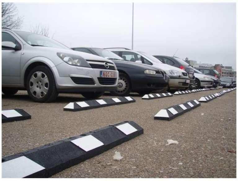 Parkeerbegrenzer (wit-zwart)