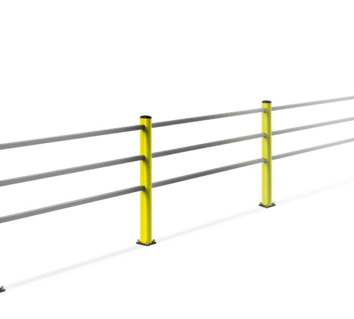 Handrail voor voetgangersbeugel ter bescherming van voetgangers