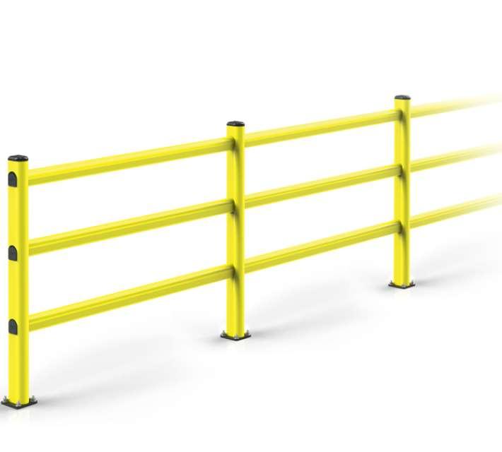 Kunststof voetgangersbeugel ter bescherming van voetgangers